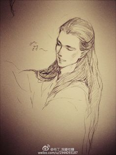 That's a beautiful picture of Maglor--I wish I could draw like this!!!