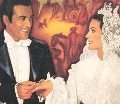 Luis Mariano et Carmen Sevilla, film VIOLETTES IMPERIALES (Ciné revue (scanner une partie de la couverture) Numéro de Noel 1952 N° 50).