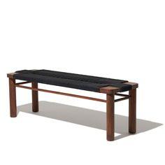 Bench Designs, Mid Century Modern Furniture, Wood Beds, Dining Room Bench, Garage Furniture, Neutral Colour Palette, Simple Bedroom, Teak Frame, Bench Furniture