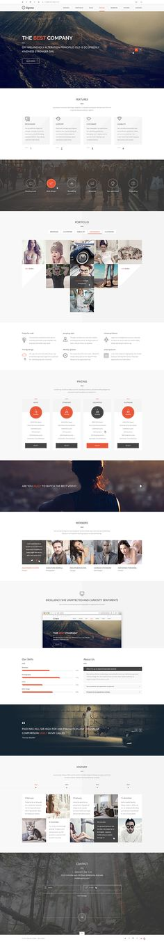 Sapona One Page Theme on Behance