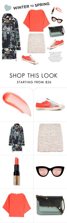 """Winter to Spring"" by theoni2009 on Polyvore featuring NARS Cosmetics, Golden Goose, MSGM, Balenciaga, Bobbi Brown Cosmetics, Quay, Michael Kors, Marni and Wintertospring"