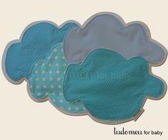 """toalhas de boca nuvens - coleção """"nas nuvens"""" produtos zukkadesign - tudomeu for baby"""