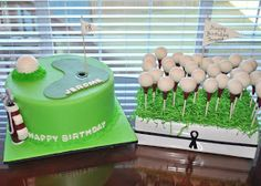 Hope's Sweet Cakes: Golf Cake and Cake Pops