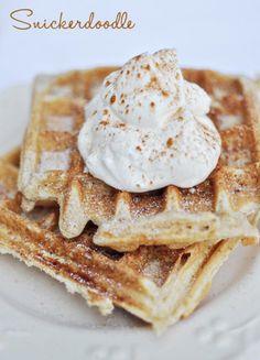 Snickerdoodle waffles #BabyCenterBlog