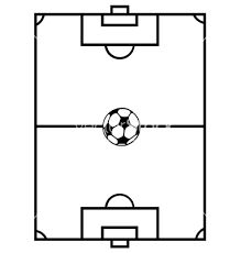 Image result for football pitch outline