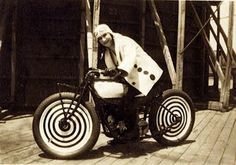 """Lilian La France was a stunt rider, specialized in motorcycle stunts and most notably, the Wall Of Death. She was one of the first women to perform motorcycle stunts.    """"I was never meant to have children, or to be a plain housewife.  I saw how my mother lived, so you know married life never appealed to me– to endure what she went through…""""    –Lillian LaFrance"""