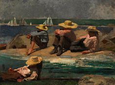 """"""" Winslow Homer (1836-1910) Children on the Beach (1873) """" ~Repinned Via Esther Morales"""