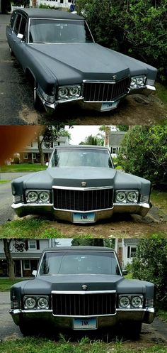 1970 Cadillac Hearse [custom dead sled] Sleds For Sale, Cadillac Fleetwood, New Tyres, Car Show, Old Cars, Exterior, Outdoor Rooms