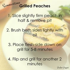 Healthy summertime grilled peaches