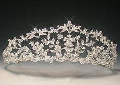 """A """"Royal"""" Tiara This is the tiara of Mandy at MandysRoyalty.org. It measures 2″ high in the center, and is called the Fantasy Trellis Tiara. For real royal tiaras and other famous jewels, visit  http://mandysroyalty.org/royal_rep/category/royal-jewels/page/5/#sthash.hoZ71eW2.dpuf"""