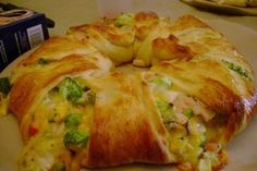 This sounds easy and delicious. Chicken, Broccoli and Cheese Crescent Ring.