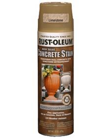 Rust-Oleum Concrete Stain and Sealer aerosol for our stepping stones