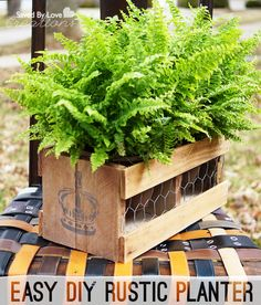 Easy Rustic Planter DIY with @PlaidCrafts @savedbyloves
