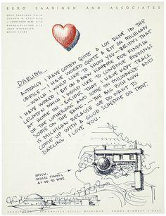 Eero Saarinen's love letters | News | Archinect