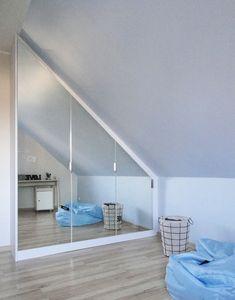 Attic Bedroom Storage, Attic Bedroom Designs, Room Design Bedroom, Home Bedroom, Bedroom Decor, Loft Conversion Bedroom, Decor Home Living Room, Home Decor, First Apartment Decorating