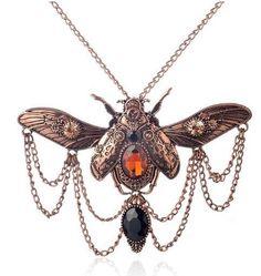 Beetle Steampunk Statement Necklace
