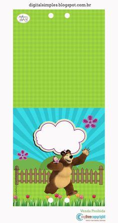 Kit Festa Aniversário Masha e o Urso - Convites Digitais Simples Marsha And The Bear, Bear Party, 3rd Birthday, Alice, Party Supplies, Baby Gifts, Diy And Crafts, Printables, Disney Frozen Birthday