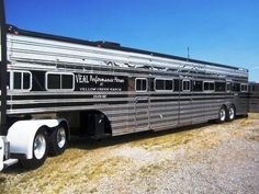 1988 horse trailer, remodeled living quarters, 53' long only two horse horse trailer :) sweet though!