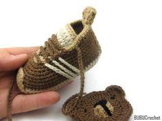 Del ganchillo zapatos de bebé botitas de bebé del por BUBUCrochet