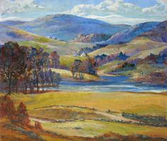 """Valley and Hills, Lyme"", Paul E. Saling (1876 - 1936), oil on canvas, 34"" x 40"", Private collection."