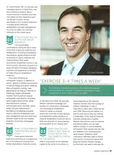Diabetic Living: Nov-Dec 2014 issue; an interview with Dr. Gerd Mueller, page 1