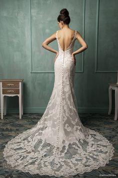 amelia sposa wedding dresses 2014 fiora sleeveless lace gown back