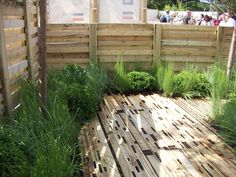 Recycling - all reclaimed pallets and scaffold boards. Incredibly beautiful.
