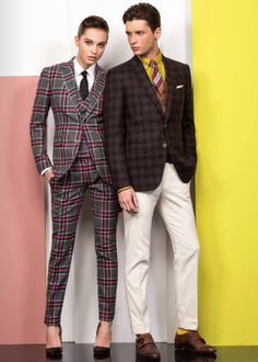 Marzoni look book - plaid suit