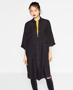 Image 2 of LONG SHIRT DRESS from Zara