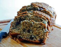 blueberry oatmeal bread...made with coconut oil...from super healthy kids. delish n not too sweet!