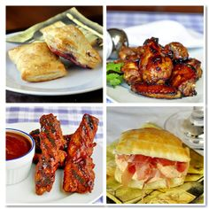 45 Great Party Food Ideas - just in time for New Year's Eve! We have wings, ribs, bruschetta, samosas, mini quiches quessdillas, beer battered shrimp, salsas, sliders, paninis, pulled pork, sausage rolls, crostini, crab cakes and so much more. If you're celebrating, we can help you plan a terrific party food menu.