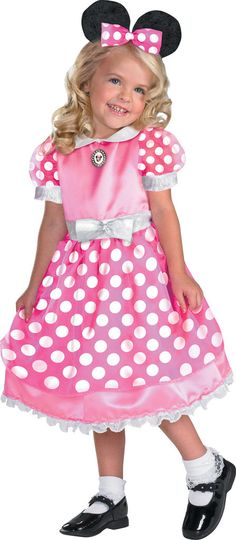 Disney Clubhouse Minnie Mouse (Pink) Toddler / Child Costume Includes dress, headband. Does not include socks or shoes. This is an officially licensed © Disney costume. Weight (lbs) 0.56 Length (inche