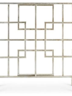 {Antique Silver Squares Fire Screen} Intersecting squares add an unexpected design element for the fireplace. #firescreen #LivLuxe