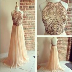 Prom Dress Princess, Elegant Pink Prom Dress Beaded Party Gowns Chiffon Homecoming Dress High Halter Evening Dress Shop ball gown prom dresses and gowns and become a princess on prom night. prom ball gowns in every size, from juniors to plus size. Halter Prom Dresses Long, Prom Dresses 2016, Beaded Prom Dress, A Line Prom Dresses, Prom Dresses Online, Cheap Prom Dresses, Sexy Dresses, Dress Online, Backless Dresses