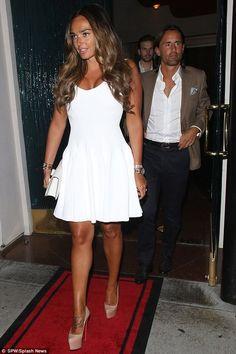 Tamara Ecclestone Fashion out with Jay April 2013 - Star Style Star Fashion, Kids Fashion, Alaia, Jay, White Dress, Stars, Celebrities, Shopping, Dresses