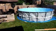 Ground Prep and Intex Pool installation