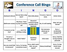 Conference Call Bingo Game 60 Cards Very Funny Great for | Etsy Conference Call Bingo, Youth Conference, Poke Video, Bingo Patterns, Real Life Video, Email Cards, Team Activities, Bingo Games, Unique Cards
