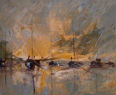 "Saatchi Online Artist: Justyna Kopania; Oil, 2011, Painting ""Fishing..."""