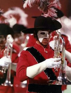 "Santa Clara Vanguard 1989 program ""Phantom of the Opera."" One of DCI's most memorable shows. Marching Music, Marching Band Shows, Marching Band Memes, Tambour, Santa Clara Vanguard, Music Jokes, Drum Corps International, Band Nerd, Winter Guard"
