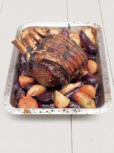 Roast forerib of beef with garlic & rosemary - xmas day main