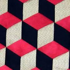 Image result for tumbling blocks quilt pattern