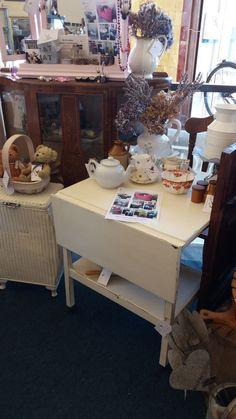 Drop Leaf Tea Trolley in Antique Cream Tea Trolley, Furniture Ideas, Upcycle, Leaves, Drop, Cream, Antiques, Creative, Handmade
