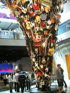 """If XI was IX: Roots and Branches,"" created by German artist Trimpin. At the ""Experience Music Project"" in Seattle, WA."