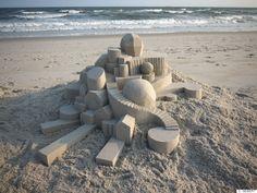 El artista de castillos de arena del que Escher se sentiría orgulloso (FOTOS)