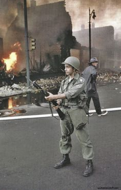 National Guard in Detroit during 1967  riots