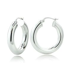 Zales 28.0 x 31.0mm Polished and Glitter Crossover Double Hoop Earrings in Sterling Silver GhArX