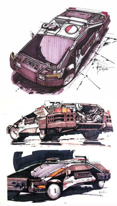 Blade Runner Production drawings by Syd Mead