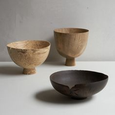 Vessel Medium by Forest and Found Dimension: Approx. H 14 cm, Ø 20 cm Material: Beech Orgin: Hand made in UK Note: Two natural crack detail on edge Made In Uk, Objects, Medium, Medium Long Hairstyles