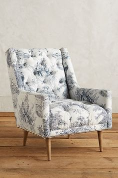 Toile Booker Armchair #anthropologie---> love anything toile!!!