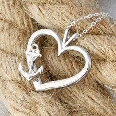 https://www.etsy.com/listing/232476419/  Sterling Silver Anchor Heart Pendant by The Jewelry Girls